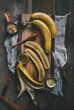 honey-roasted banana + kefir smoothie • adventures in cooking