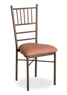 """""""Chiavari Thin Stack Chair """"Durable yet lightweight, Straight lines produce an appealing aristocratic addition to any formal function. Stacking 10-12 high.  Please contact us for pricing (718)363-3097."""