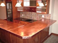 Copper top bar | Houzz is the new way to design your home.