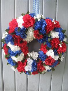 Memorial Day Decorating Ideas red white and blue banners and flags