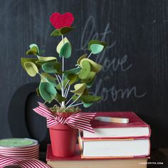 Blooming Heart Felt Plant