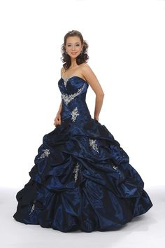 Pretty Sleeveless Floor length Ruffles Applique Strapless Ball Gown Taffeta Lace Up Elegant Luxurious Quinceanera Dress Prom Dress PNCKMY4J affordable on sale delicate made