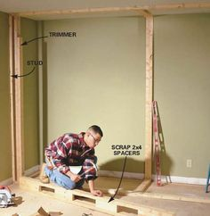 family handyman stuff How to Build a Wall to Wall Closet: Store More Stuff in a Closet with Doors Bedroom Closet Storage, Master Bedroom Closet, Bedroom Wardrobe, Closet Wall, Diy Bedroom, Basement Closet, Closet Shelving, Trendy Bedroom, Diy Wardrobe