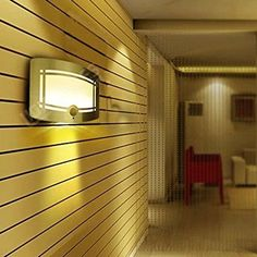 Light-operated Motion Sensor Activated LED Wall Sconce Hallway Night Light  #SAMYO