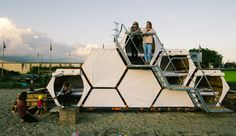 This Stackable Honeycomb Hotel Will Forever Change How You Camp With Friends!