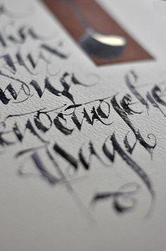 U stvari - calligraphy exhibition by Jelena Senicic Vilimanovic, Belgrade