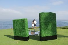 Great shot of our Hedge Panel--on set in La Jolla.
