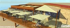 The Ohungu Wilderness Lodge is a boutique upmarket lodge planned for construction in 2015. The use of Pergotenda 100, a single Magical sail awning, and 6 x Defense sail awnings for the restaurant area, will provide very classy shelter from the hot Namibian sun. Our dealer The Patio, from Windhoek will manage installation.
