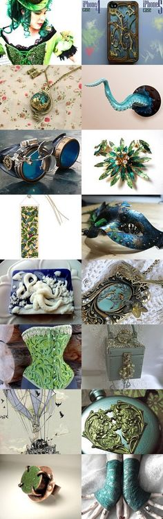 Soft Summer Steampunk by Suzee on Etsy--Pinned with TreasuryPin.com  -- 16 beautiful items I found in different shops on Etsy.