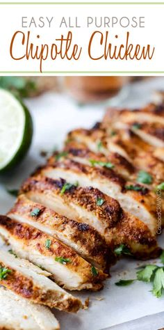 Poulet Au Chipotle, Chipotle Chicken Marinade, Cilantro Lime Chicken, Recipe Chicken, Roast Chicken, Chicken Salad, Mexican Chicken Recipes, Mexican Dishes, Healthy Recipes
