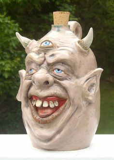 Monster face pottery   Tumblr