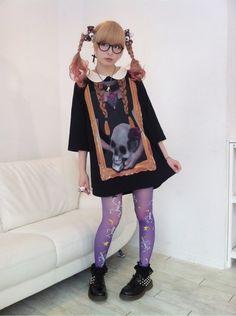 KPP in a omnia vanitas worthy one piece dress