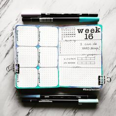 My favorite weekly layout ever ! Bullet Journal Title Page, Bullet Journal Layout Templates, April Bullet Journal, Bullet Journal Lettering Ideas, Bullet Journal Spread, Bullet Journal Inspiration, Journal Ideas, Calendar Journal, Bullet Journel