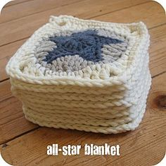 Crocheted star squares, from the book Crocheted Gifts: Irresistible Projects to Make & Give. Perfect for the blanket/quilt I have planned for my little one.