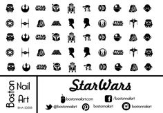 Star Wars Waterslide Nail Decals - Set of 50