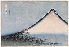 "yorkeantiquetextiles:  dappledwithshadow:  Hokusai  ""Fuji Blue"". Woodblock print created during the early 19th century by Japanese artistKatsushika Hokusai"