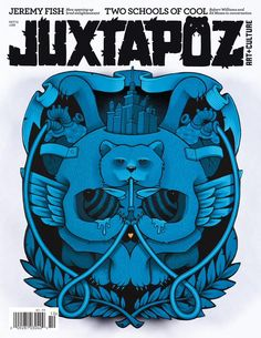 Always a fan of Juxtapoz Mag esp. when they have a play via Kilian Eng, By Kilian, Cool Magazine, Magazine Design, Magazine Covers, Christopher Allen, Cool Album Covers, Best Albums, Editorial Design