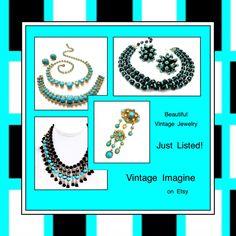 www.vintageimagine.etsy.com #vintagejewelry #vintagejewellry #giftsforher #vintagegifts #fashion #jewelry #vintagefinds #PlsFollowthx #costumejewelry #vintagebling #fashion #vintagefashion #vintagejewelry #jewelry #vintage #SignedandUnsigned
