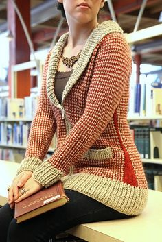 220 Ravelry: Urban Houndstooth Cardigan pattern by Sarah Wilson.