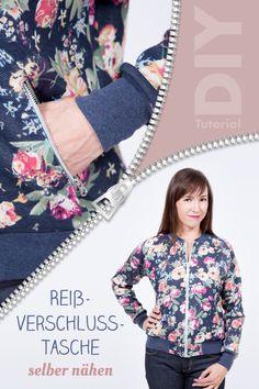 Anleitung Reißverschlusstasche nähen für Jacken, Hosen, mäntel und mehr - ideal für Blouson Schnittmuster | pattydoo