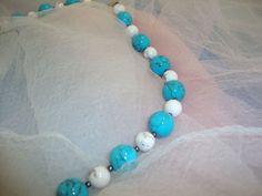 Türkis-Howlith Beaded Bracelets, Jewelry, Fashion, Semi Precious Beads, Neck Chain, Schmuck, Moda, Jewlery, Bijoux
