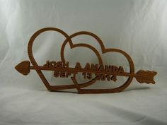 Looking for a unique wedding or anniversary gift for a special couple? This personalized wedding/anniversary hearts gift is handmade from Oak wood ( Pictured ) other types of wood are available and ma