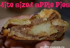 Bite sized apple pies