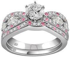 1.24 Carat Karah2 Diamond 14Kt White Gold Engagement Ring