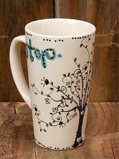 Bohemian Ceramic Latte Mug