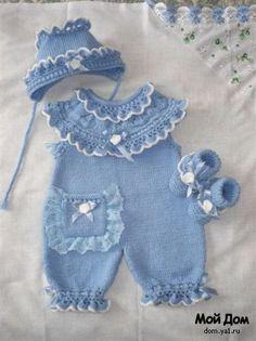 Baby Crochet Pattern pattern by Justcrochet Designs Crochet Baby Dress Pattern, Baby Knitting Patterns, Baby Patterns, Crochet Baby Sweaters, Knitted Baby Clothes, Knit Crochet, Baby Pullover, Baby Girl Dresses, Crochet For Kids