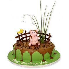 Pigs in a Mud Bath Cake