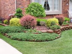 front yard landscaping idea-- Something like this kind if wall/border for front yard