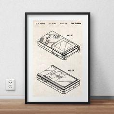 Game boy - Patent Poster - DIGITAL PRINTABLE poster - Instant Download - Jpg-file - A4