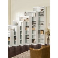"""Heavy Duty Bookcase with Reinforced Shelves - White - Increase your storage and display area with the Heavy Duty Bookcase with Reinforced Shelves - White. Available in a variety of sizes, Sale Price $124.98 - $254.98   48"""" H - 96"""" H   32"""" W x 12"""" D List Price: $194.99 - $449.99   You save 43%"""