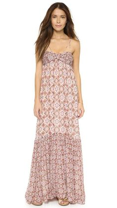 Rachel Zoe | Miriel Cross Strap Empire Maxi Dress #RachelZoe #maxi #dress