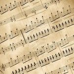 Music Notes and Newspaper