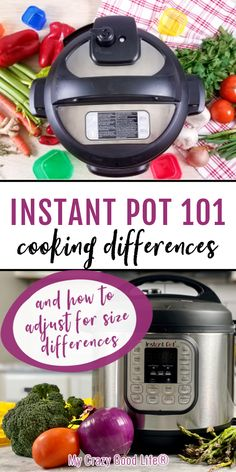 There should be no major difference in cook times between a 3, 6 and 8 quart Instant Pot, however, users report a few differences. Time to come to pressure, pressure release time, water needed, and wattage are different in each Instant Pot size. #instantpot #pressurecooker #IPcooking #cookingtips