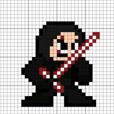 Kylo Ren (Ben Solo) Perler Bead Pattern