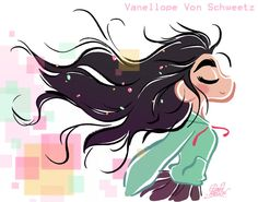 Teen Vanellope free hair style from Wreck It Ralph by princekido.deviantart.com