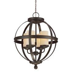 Sfera 4-light Autumn Bronze Chandelier - Overstock Shopping - Great Deals on Seagull Lighting Chandeliers & Pendants