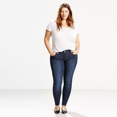 310 Shaping Super Skinny Women's Jeans (plus Size) - Dark Wash Jeans Levi's, Slim Jeans, Super Skinny Jeans, Super Skinny Women, Mannequins, Classic Looks, Style Me, Plus Size, Denim