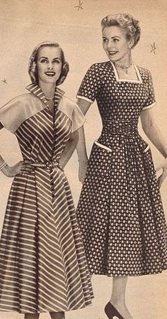 1950's Fashion. <3  these are cute