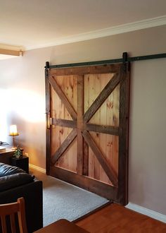 Recycled timber interior sliding barn door. Timber Revival, Melbourne. Made in Melbourne, shipped nationally around Australia. #barndoor #timberbarndoor #recycledtimberdoor #timberdoor