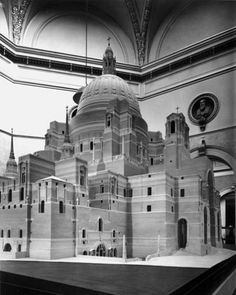 The Great Model of Liverpool Metropolitan Cathedral by Sir Edwin Lutyens as presented at the Royal Academy in London.