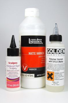 Here are some tried and true matte sealers for use with polymer clay. More at The Blue Bottle Tree.