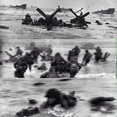 Three of Robert Capa's Magnificent Eleven pictures from the Invasion of Normandy at Omaha Beach. 16th Infantry Regiment, 1st Infantry Division