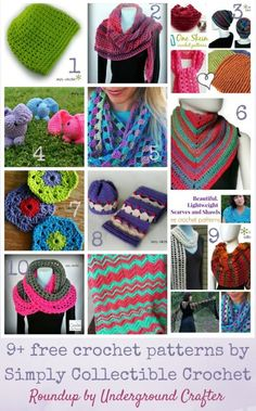 Roundup: 9  free crochet patterns by Simply Collectible Crochet via Underground Crafter