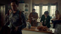 "Fargo 2x02 ""Before The Law"" - Dodd Gerhardt (Jeffrey Donovan), Floyd Gerhardt (Jean Smart), Bear Gerhardt (Angus Sampson), Charlie Gerhardt (Allan Dobrescu) & Denise (Anna Cummer)"