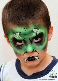 *Fasnacht/ Halloween - Sparkling Faces. Kinderschminken. Farbenverkauf. Kurse. Monster Face Painting, Face Painting For Boys, Face Painting Designs, Tolle Halloween Kostüme, Halloween Masks, Halloween Make Up, Facepaint Halloween, Monster Makeup, Monster High Halloween