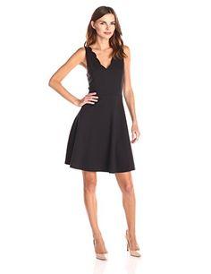 Lark & Ro Women's Scalloped Ponte Fit and Flare Dress - http://darrenblogs.com/2016/05/lark-ro-womens-scalloped-ponte-fit-and-flare-dress/